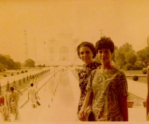mom at Taj in 1967