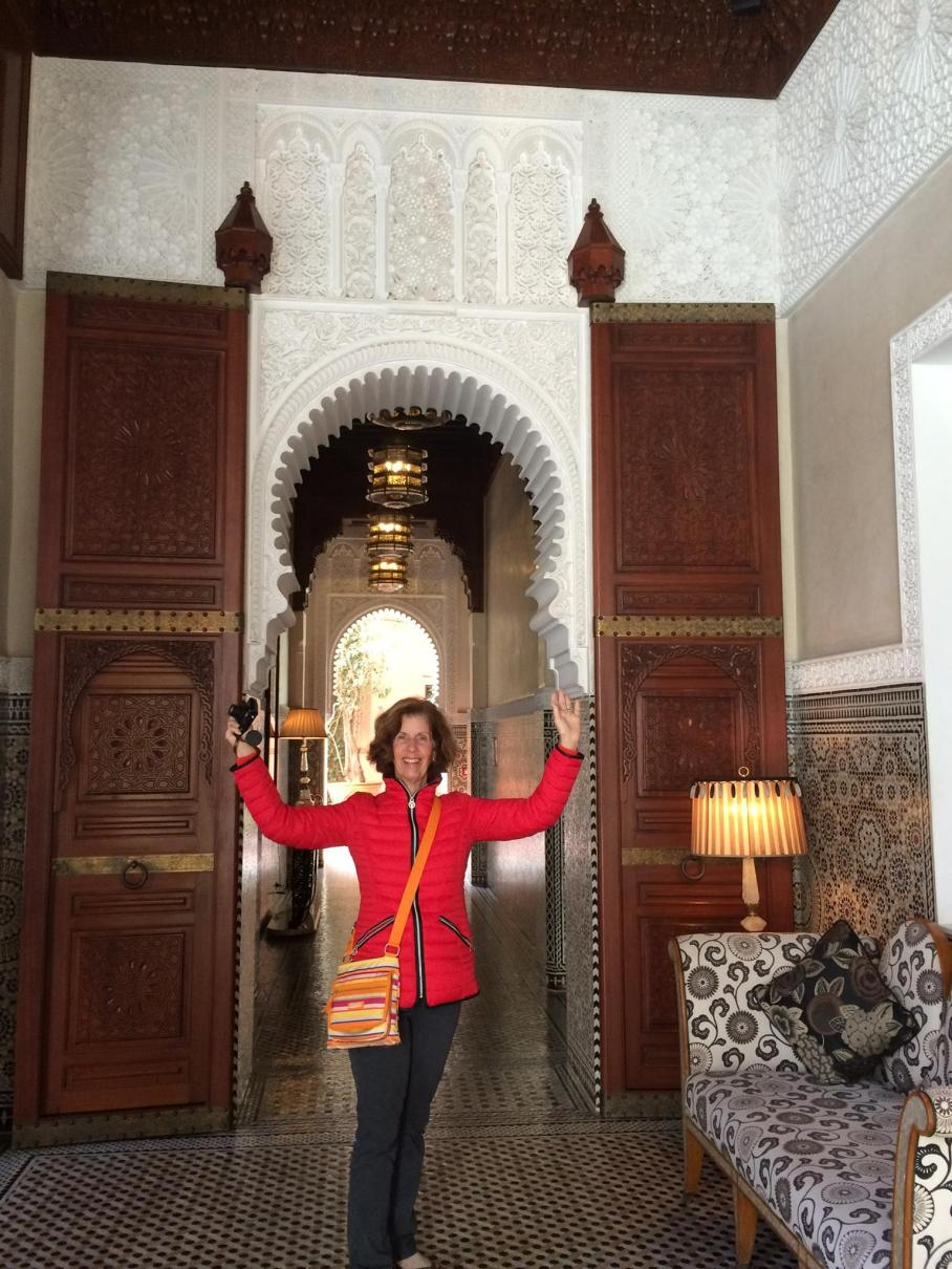 aunt in hotel royal mansour