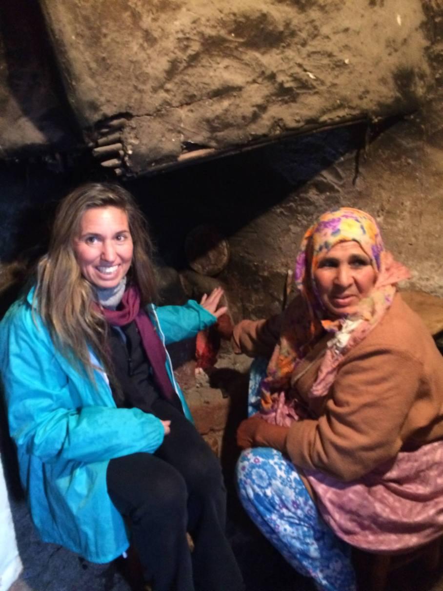 fireside in a berber village