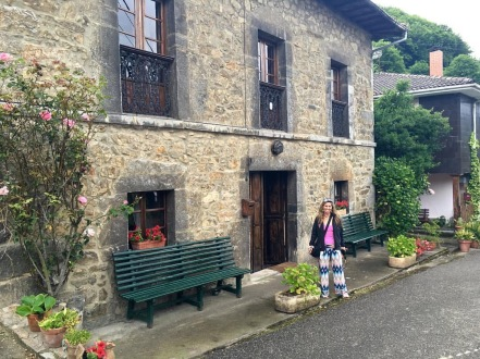 Me, in front of Grandma's house in La Frecha